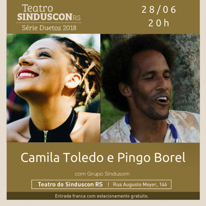 Camila TOledo e Pingo Borel_FLYER